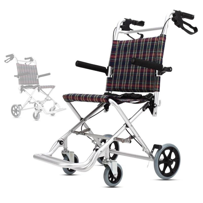 Wheelchairs - Folding Portable Trolley Wheelchair