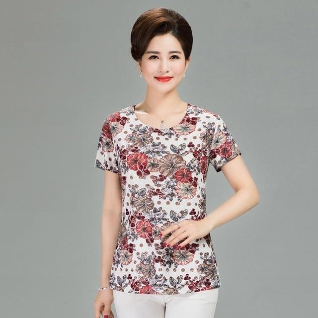 Womens Clothing - Floral Print T-shirt