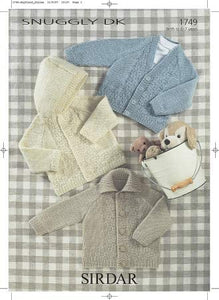 Sirdar Snuggly DK Baby Children's Double Knitting Pattern - 1749