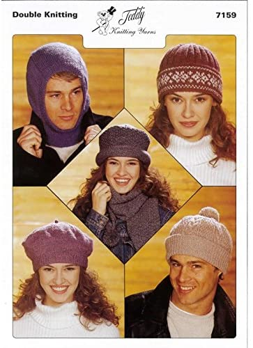 Adult Hats DK Knitting Pattern 7159