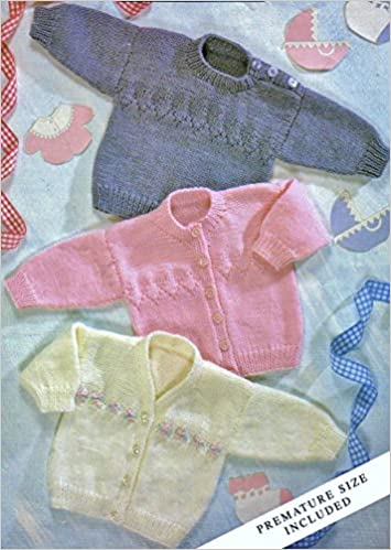 Teddy Knitting Pattern Baby DK Sweater and Cardigans - 7173