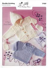 Double Knitting Baby Sweater, Jacket & Mitts 7197