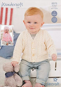 Cardigans and Hat in Wondersoft 4ply Knitting Pattern 8976