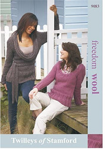 Twilleys of Stamford Ladies Sweaters Freedom Knitting Pattern 9083 Super Chunky