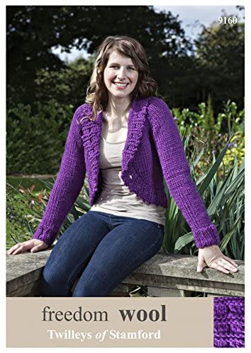 Twilleys of Stamford Ladies Bolero Freedom Knitting Pattern 9160 Super Chunky