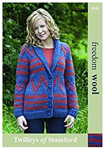 Twilleys of Stamford Ladies Jacket Freedom Knitting Pattern 9191 Super Chunky
