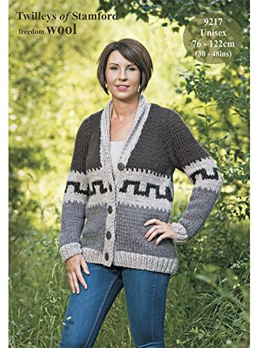 Twilleys of Stamford Ladies Jacket Freedom Knitting Pattern 9217 Super Chunky