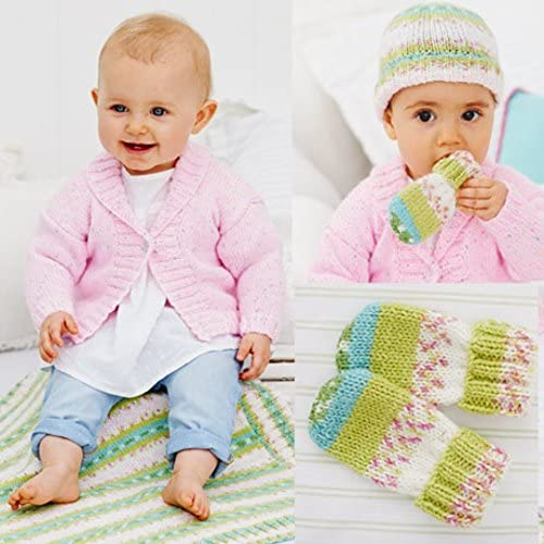Stylecraft Baby Cardigan, Blanket, Hat & Mittens Wondersoft Knitting Pattern 9479 DK