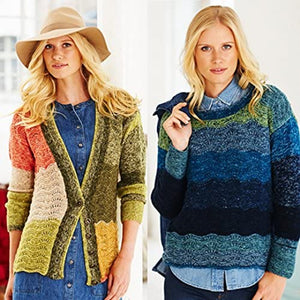 Stylecraft Ladies Sweater, Cardigan & Cowl Batik Swirl Knitting Pattern 9483 DK