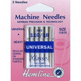 Hemline - Machine Needles Pack Of 5