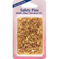Hemline - Safety Pins Brass
