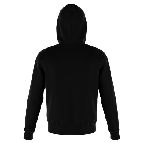 White On Black Hoodie
