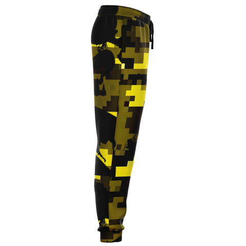 Yellow Camo Tracky Bottoms
