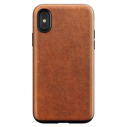 Nomad Rugged Leather Case Brown for iPhone X