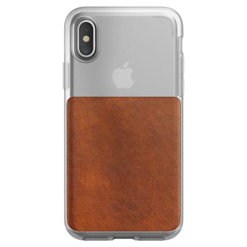 Nomad Clear Case iPhone X Brown
