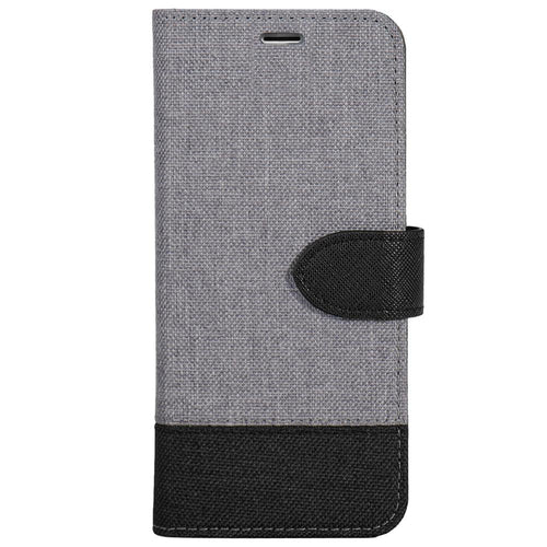 Blu Element 2 in 1 Folio Case Grey/Black Bottom for iPhone 8/7/6S/6