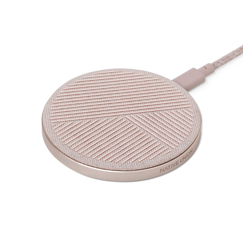 Native Union Drop Wireless Charger Pad Qi 10W Rose