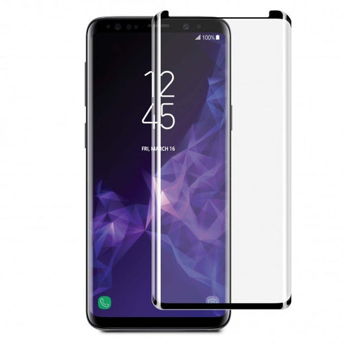 Blu Element 3D Curved Glass Screen Protector with Installation Kit Black for Samsung Galaxy S9+