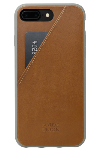 Native Union Clic Card Case Tan-Taupe for iPhone 8/7