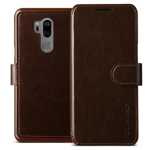 Vrs Design Layered Dandy Folio Case Brown for LG G7 One/G7 ThinQ