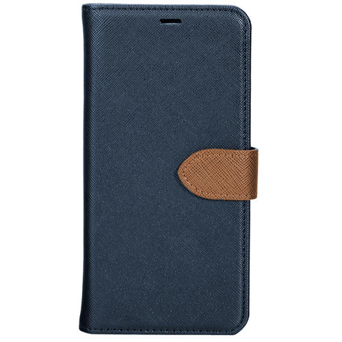 Blu Element 2 in 1 Folio Case Blue/Tan for LG G7 One/G7 ThinQ