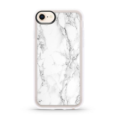Casetify Grip Case White Marble for iPhone 8/7/6S/6