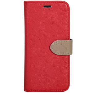 Blu Element 2 in 1 Folio Case Red/Butterum for iPhone XS Max