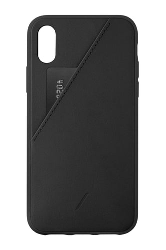 Native Union Clic Card Leather Pocket Case Black for iPhone X/XS