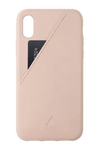 Native Union Clic Card Leather Pocket Case Rose for iPhone X/XS