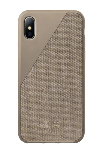 Native Union Clic Canvas Fabric Case Grey for iPhone X