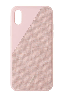 Native Union Clic Canvas Fabric Case Rose for iPhone X/XS