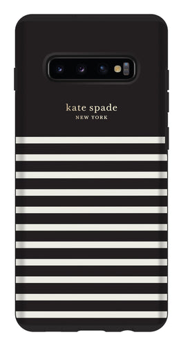 Kate Spade Protective Hardshell Case Feeder Stripe for Samsung Galaxy S10+