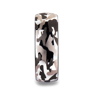 5 mm domed tungsten carbide ring with a black and gray camo design