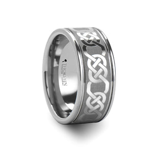 tungsten carbide ring with a celtic design