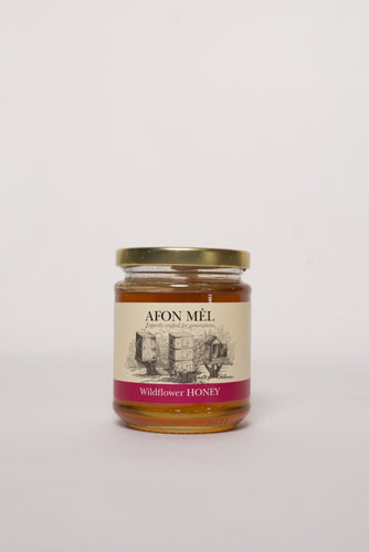Afon Mê Wildflower Honey (1/2lb Jar)