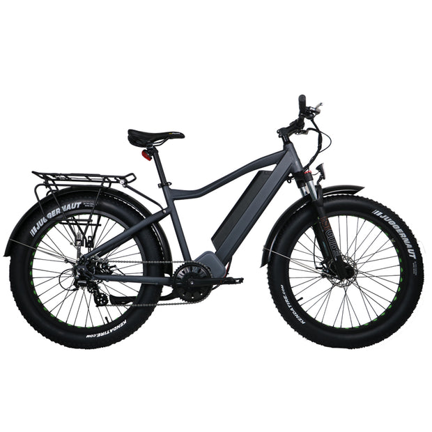 "E-Bike 26"" Fat Tire Model FAT-HD GREY 1000W 48V/15.6Ah 500C LCD Display"