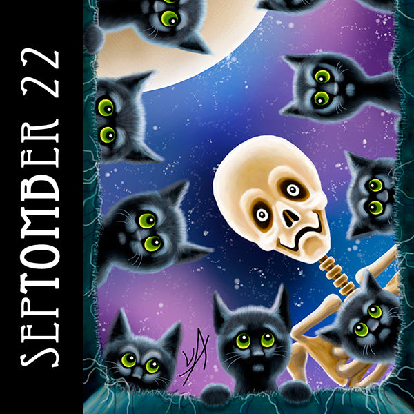 Your real friends are the ones who will help you hide a body.  #SepTOMBer #skeletonart #catart #blackcats #sixfeetunder #spookyseason #getreadyforhalloween #chaosincolor