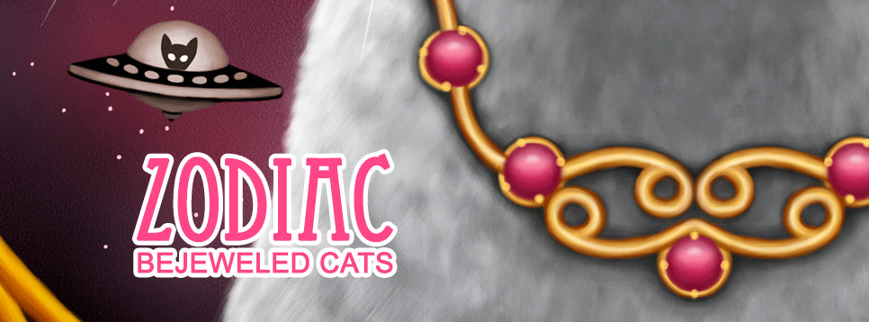 Bejeweled Cats of the Zodiac