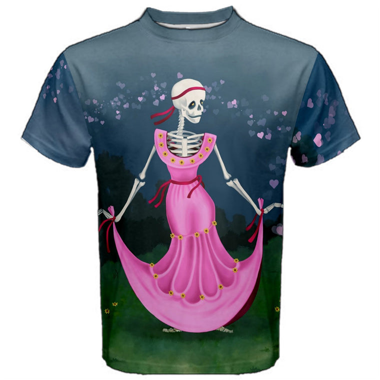 Dancing Dead Valentine (Skeleton in Pink Dress) Premium T-Shirt