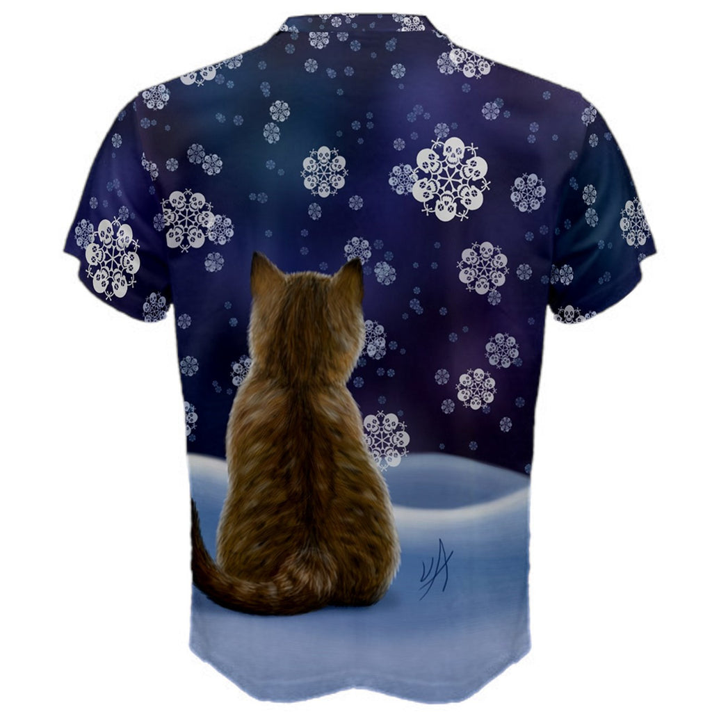 Let It Snow (Kitten with Skull Snow Flakes) Premium T-Shirt