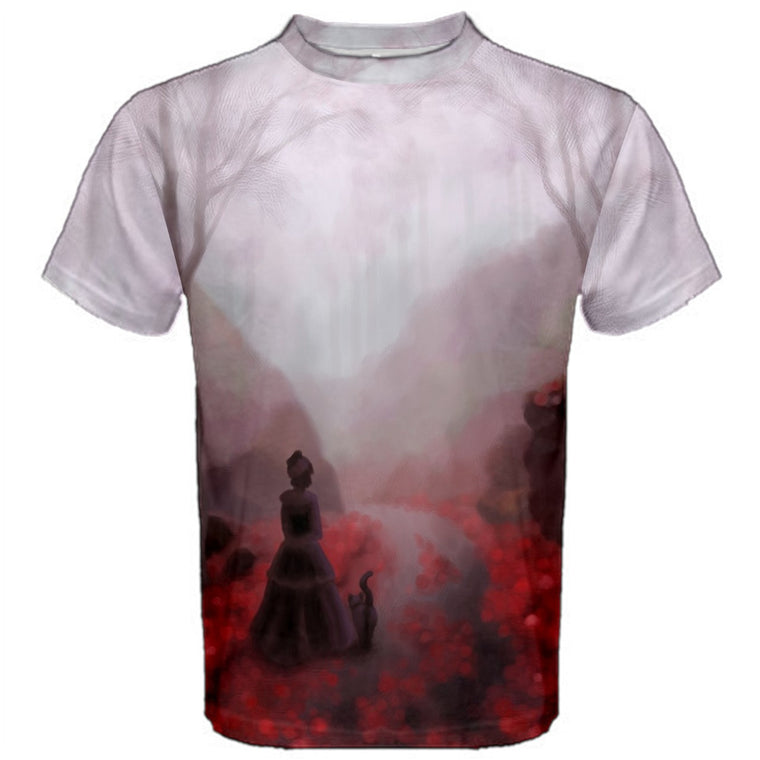 February Fog (Victorian Woman with Cat) Premium T-Shirt