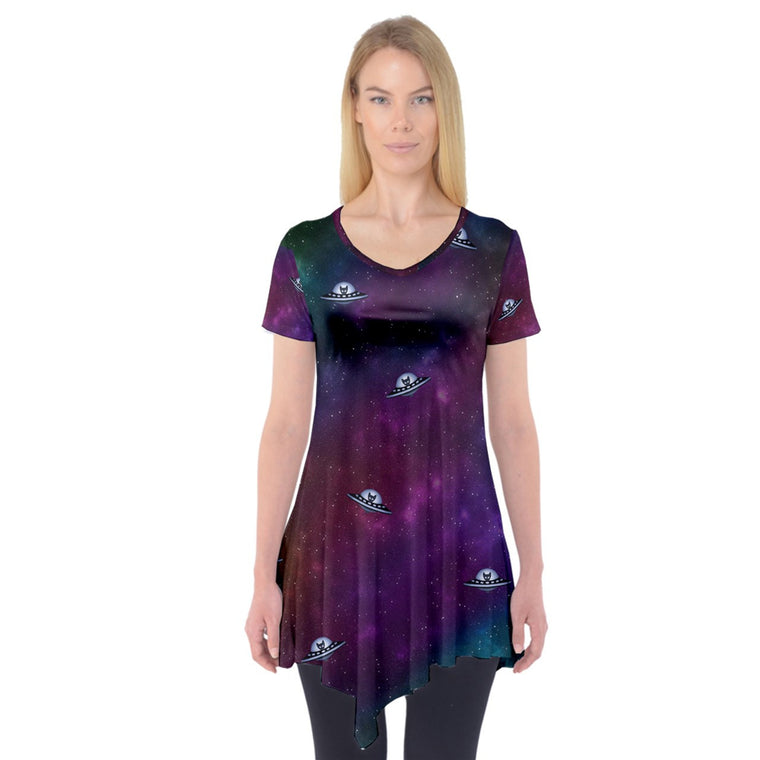 Spaceship Kitten Lightweight Tunic