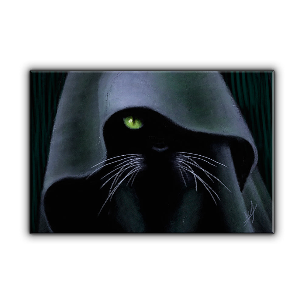 Darth Neko OOAK Wrapped Canvas Print