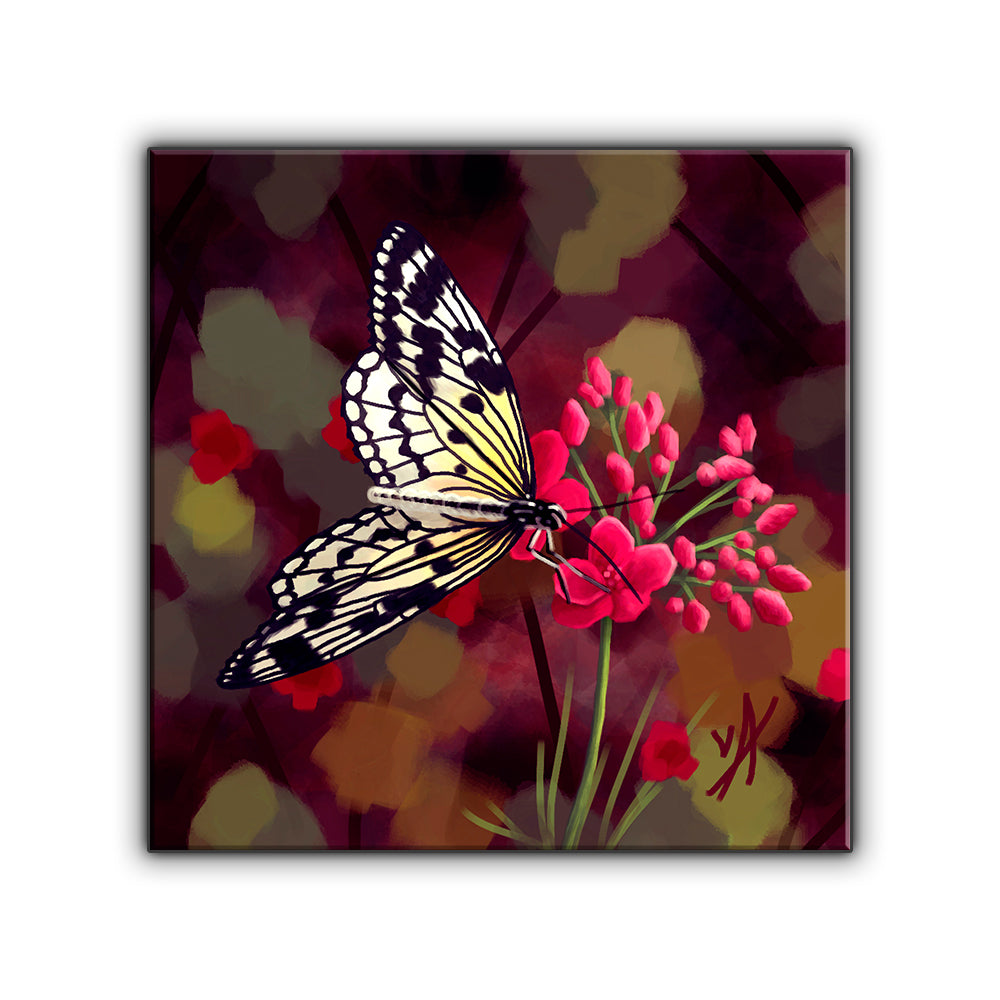 Butterfly Wonderland OOAK Wrapped Canvas Print