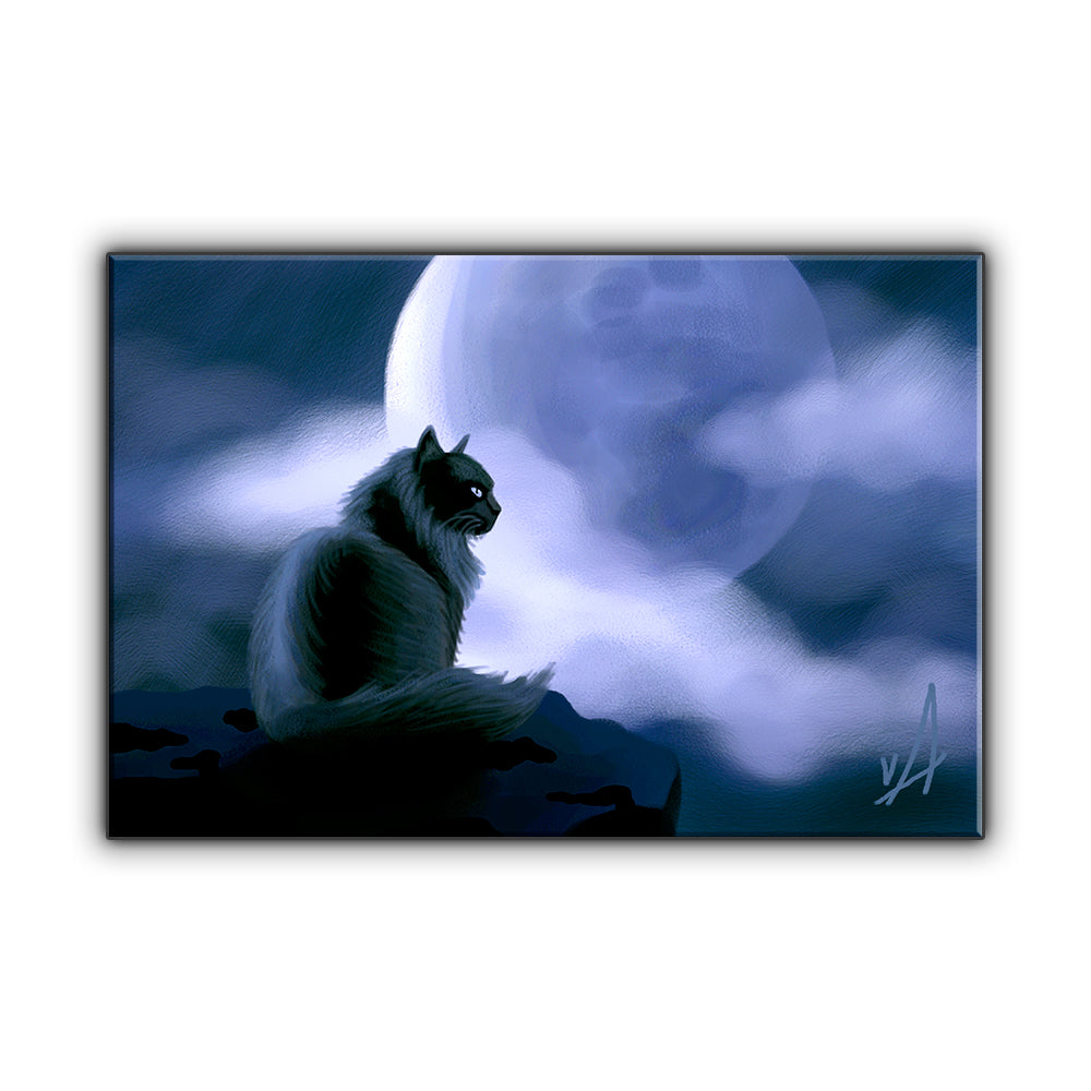 Full Moon Magic OOAK Wrapped Canvas Print