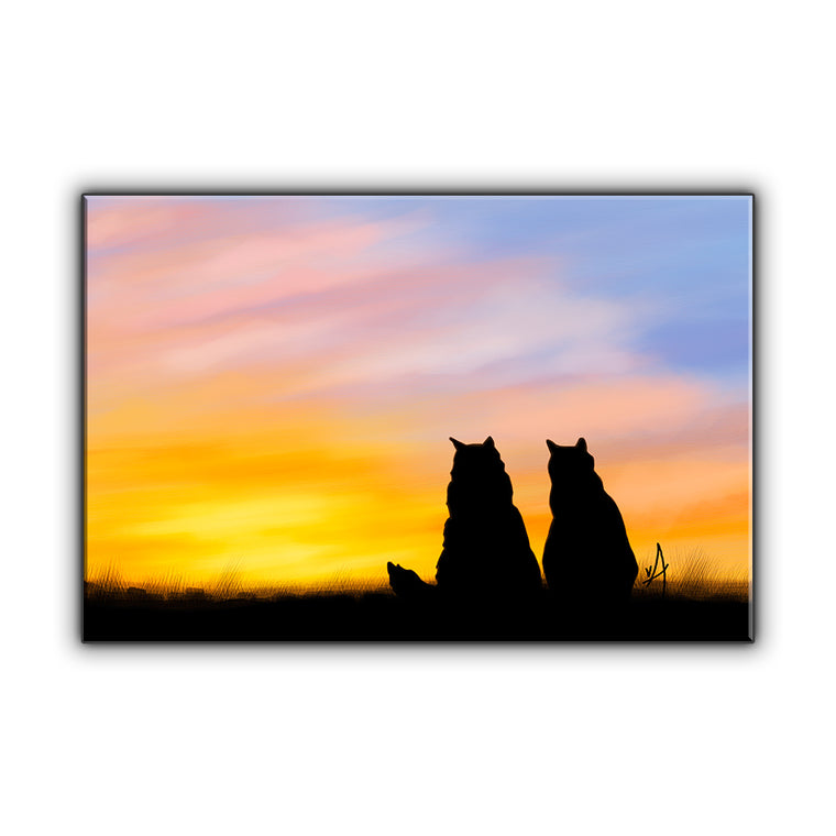 Best Buds OOAK Wrapped Canvas Print