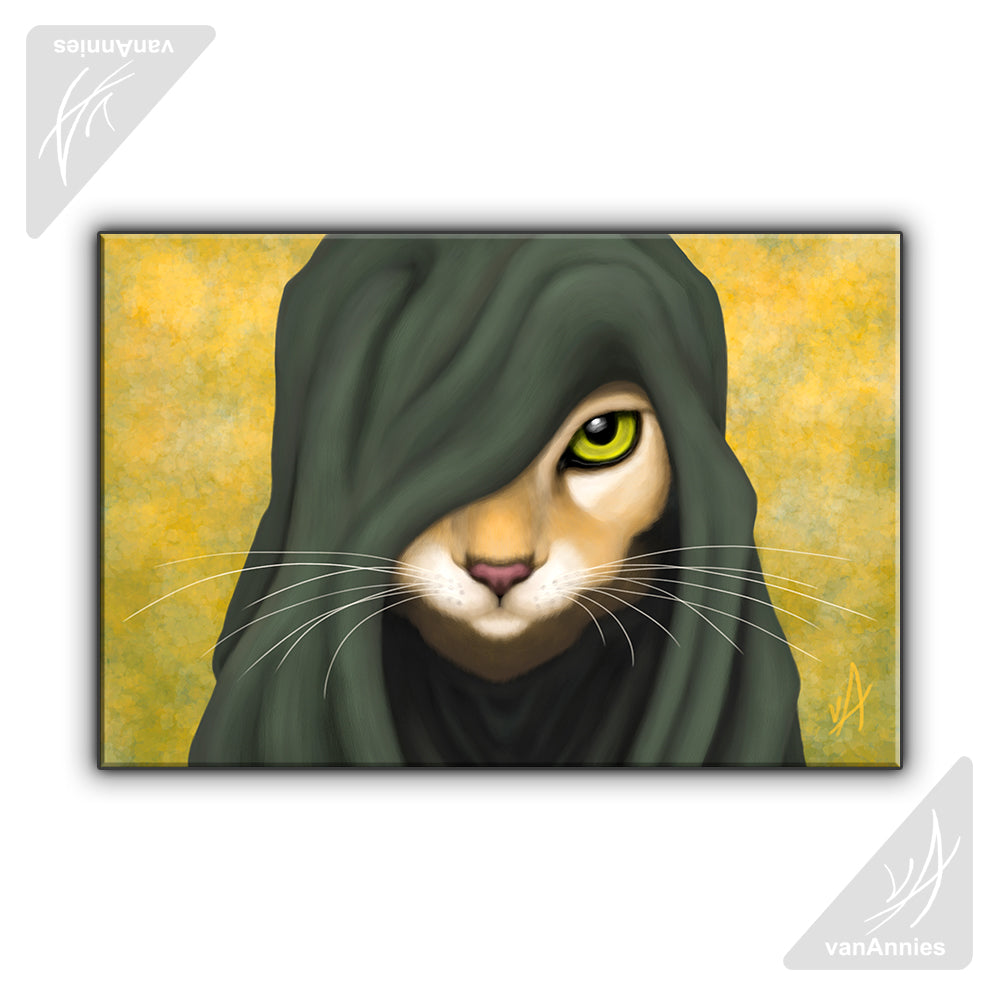Druid Cat OOAK Wrapped Canvas Print