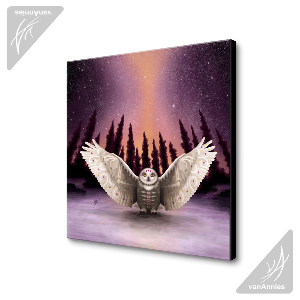 Harbinger (Snowy Owl Wraith) Wrapped Canvas Print