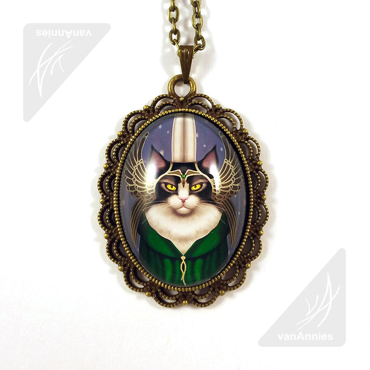 Lady Sif Warrior Cat Necklace