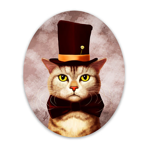 Mr Twisty Dapper Cat Magnet